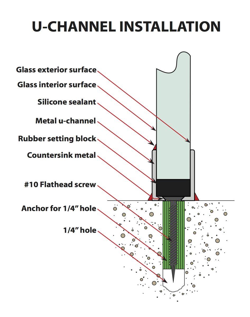 U Channel For Shower Glass Installation Spec Sheet Sans
