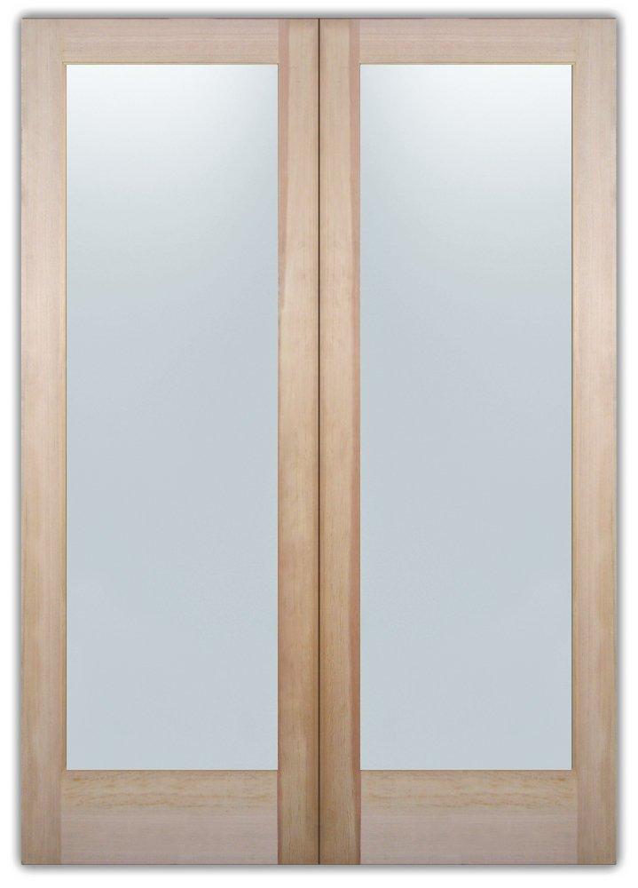 Etched Bar Door Glass