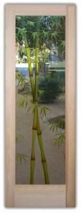Bamboo Shoots 3D Glass Entry Doors
