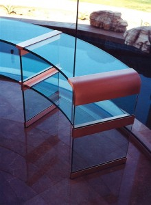 Curved Glass Console