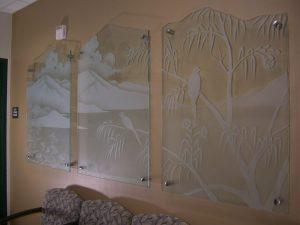 Kaiser Hospital's Desert Gaze, Glass Wall Art