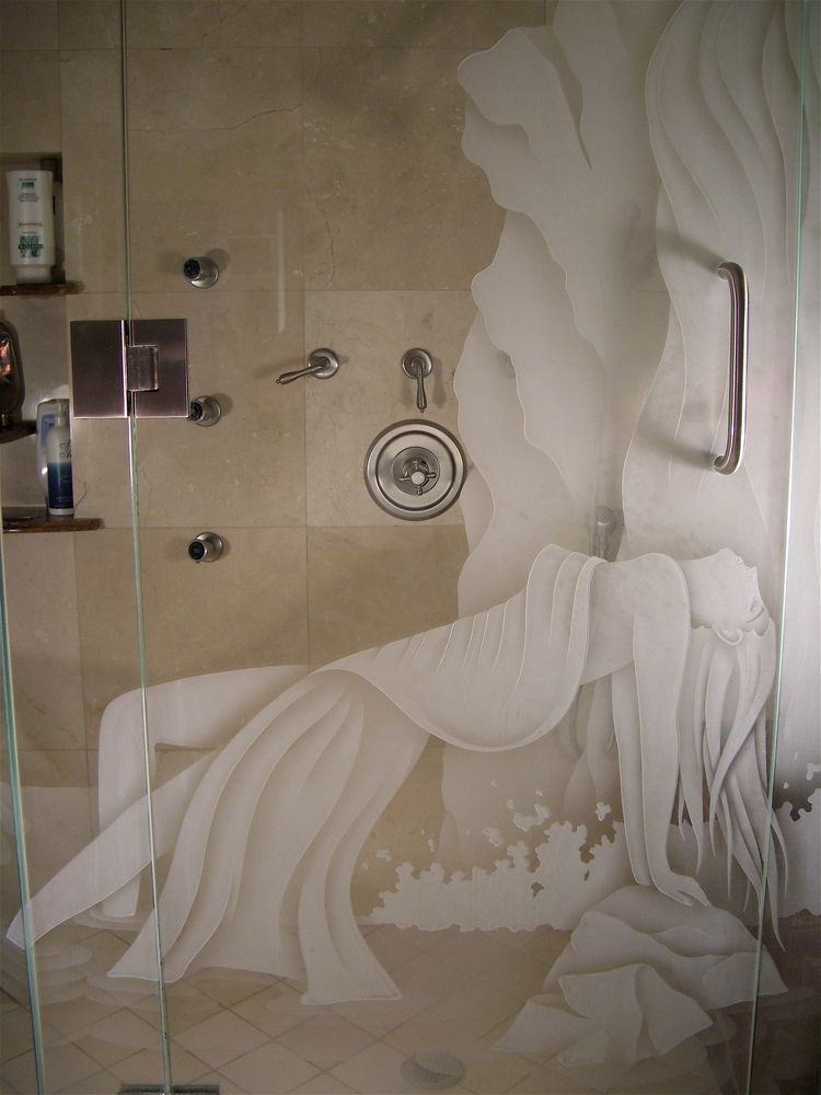 Ecstasy Ii Glass Shower Doors Etched Glass Eclectic Style