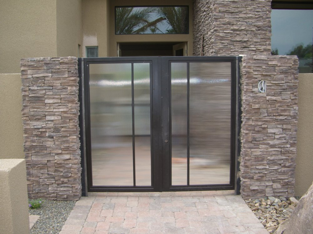 Glass Gate Frosted And Etched Glass Reeded Gate Glass