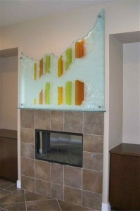 Triptic Fireplace Mantle Art Piece