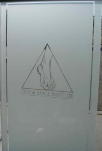 Foot Ankle Logo Etched Glass Door