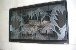 Jagged Peaks Fireplace Screen