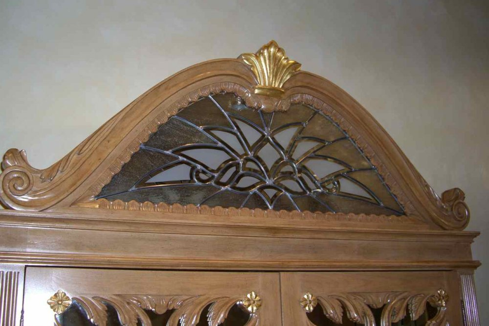 Arabesque Bevel Armoire Glass