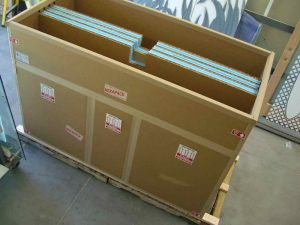 BOX Wide - 3 Panels, Heavy Glass, TOP LOADING Box