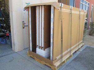 BOX Wide - 3 Panels, Heavy Glass,  SIDE LOADING Box