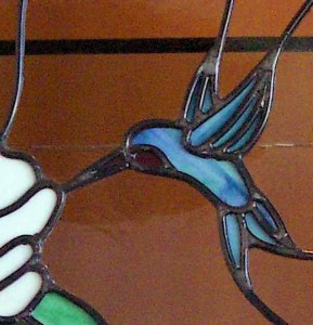 Hummingbird 19 - Stained Leaded Glass