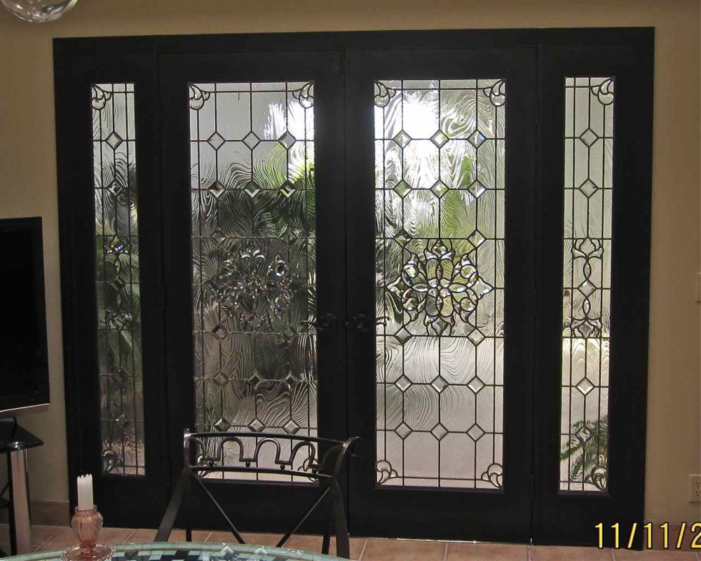 Bevel clusters entry ii glass door inserts sans soucie for Glass windows and doors