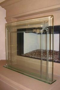 Filigree & Pinstripe Fireplace Screen II