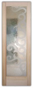 Seville II 3D Etched Glass Doors Art Decor Design