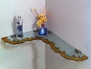 Moonscape Edge Glass Shelves - Rich Brown