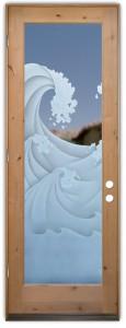 High Seas 3D Etched Glass Doors Nautical Decor