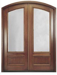 Door Style: Pair Eyebrow Arch 3/4 Lite