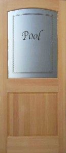 Door Style: Half Lite 1 Panel Inside Arch 182A