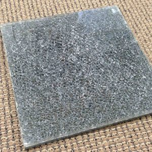 05 Shattered Glass Sample:  Starphire® Clear / Grey Mirror