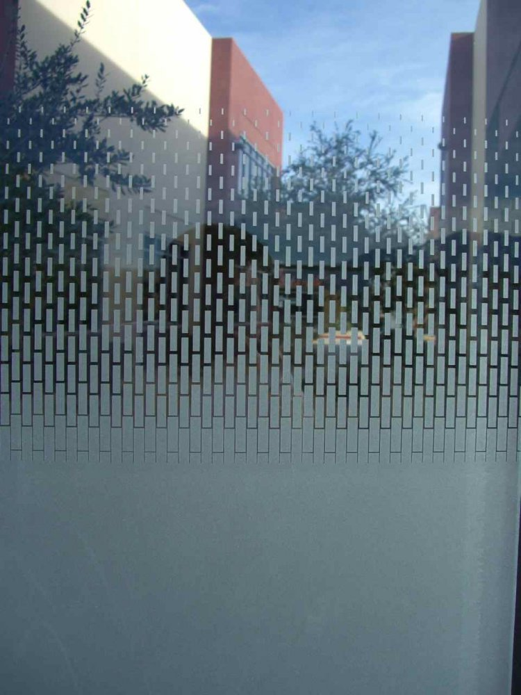 Custom Cut Frosted Glass