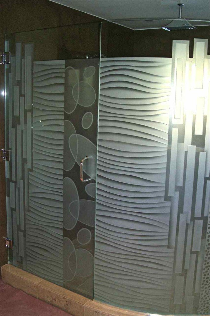Curved Glass Sans Soucie Art Glass