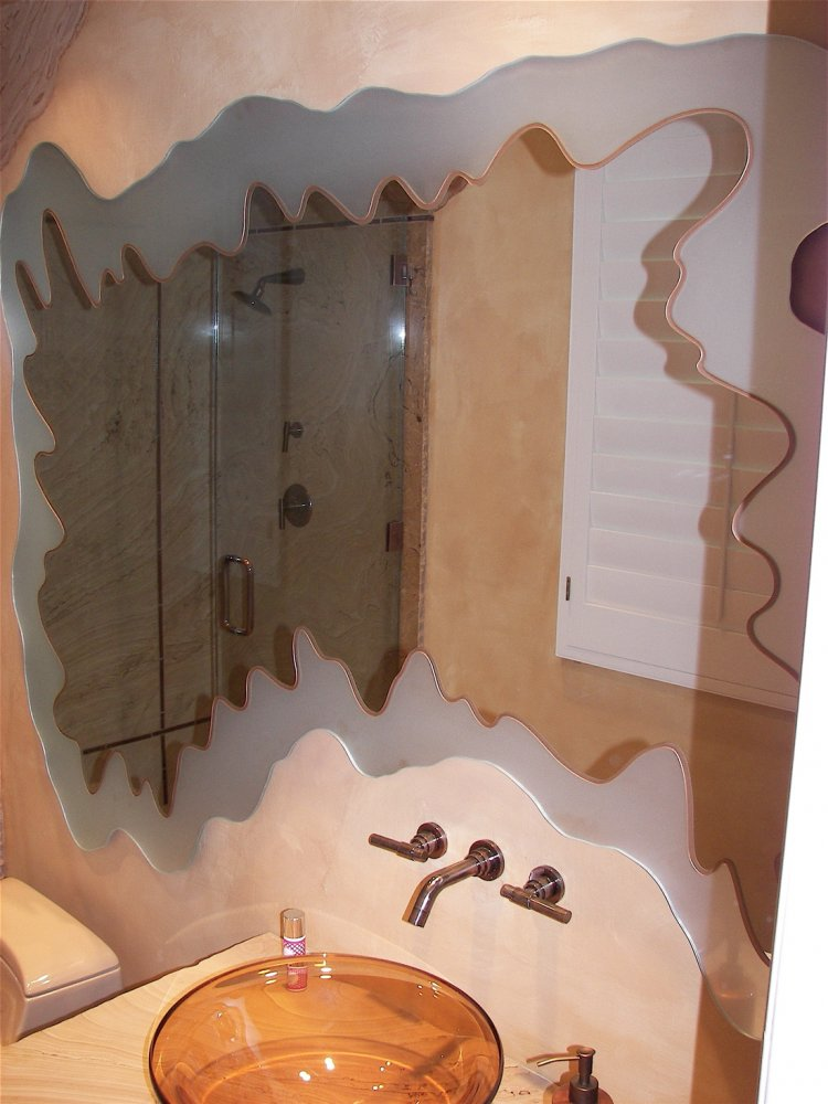 etched bathroom mirrors custom mirror sans soucie glass 12798