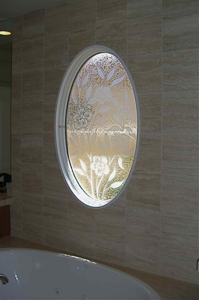 Decorative glass for the bathroom adds a custom flair for Decoration glass