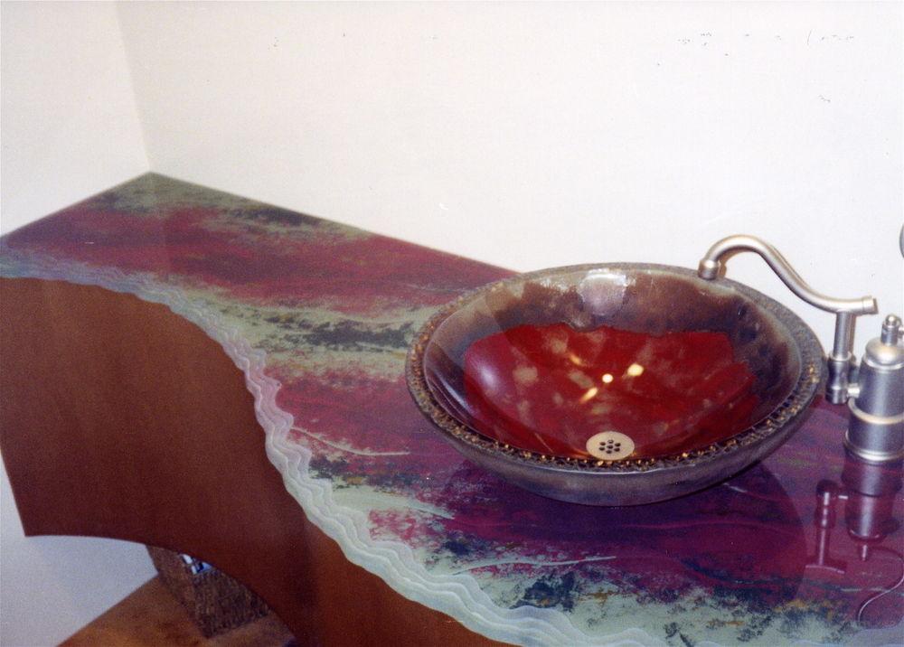 Counter tops sans soucie art glass for Decoration glass