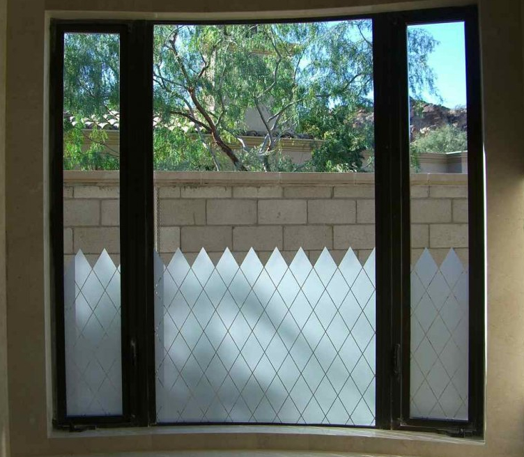 Etched Glass Window For Privacy Amp Decorative Effect Sans