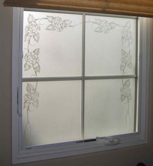 Frosted glass window sans soucie art glass for Window pane designs