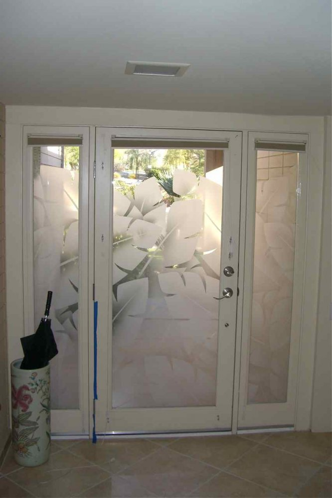 Entry Glass Coordinated Etched Glass Doors Amp Windows