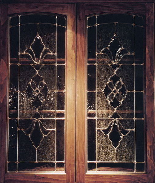 Glass Door Cabinets Inserts: Frosted, Carved Custom Glass