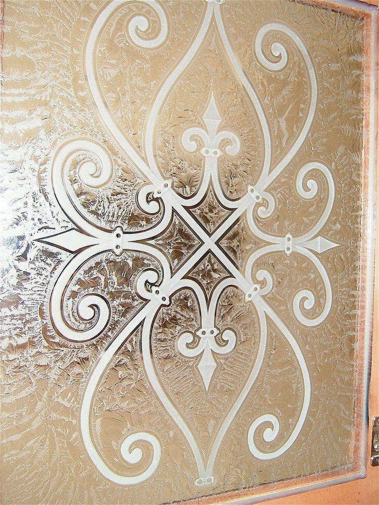 Glass Door Cabinets Inserts Frosted Carved Custom Glass Sans