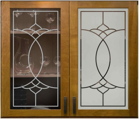 """Faux Leaded 01"".  Left:  POSITIVE Sandblast  Right:  NEGATIVE Sandblast"