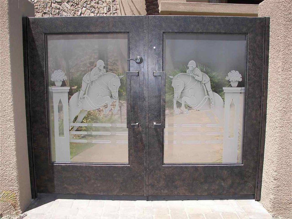 Etched Glass Gate Sans Soucie Art Glass