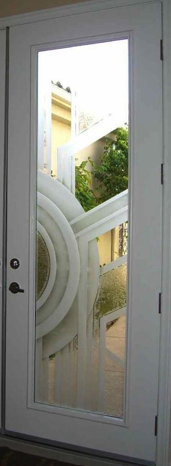 Sandblasted glass door sans soucie art glass for Art glass windows and doors