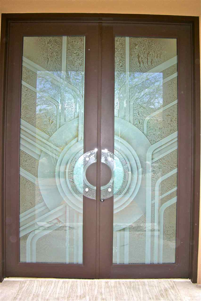 Art deco glass sans soucie art glass for Exterior entry doors with glass