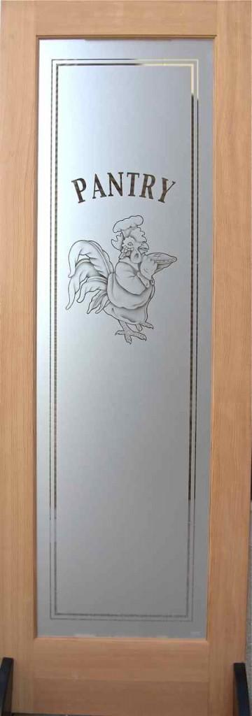 Etched Glass Pantry Doors Multi Stage Sandblasting Sans
