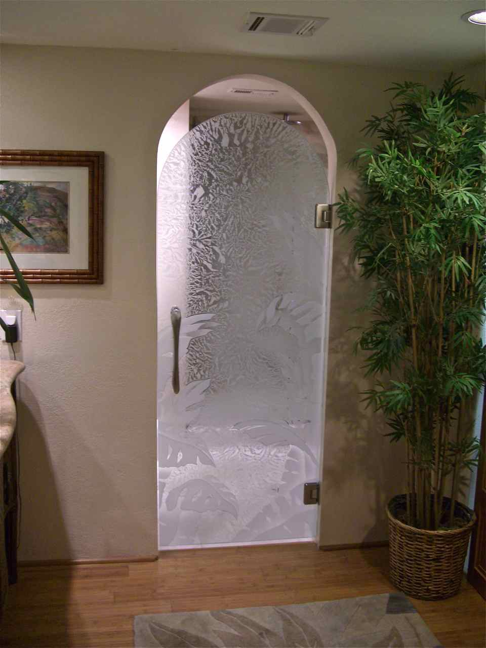 All Glass Bathroom Door Sans Soucie Art Glass