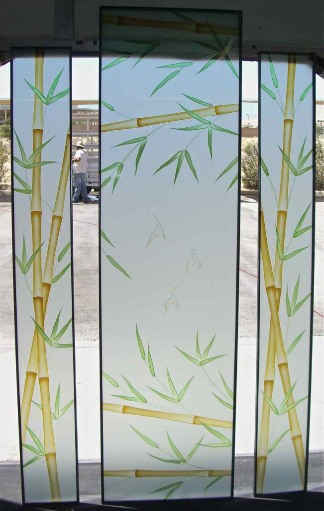 Bamboo glass designs sans soucie art glass for House window glass design