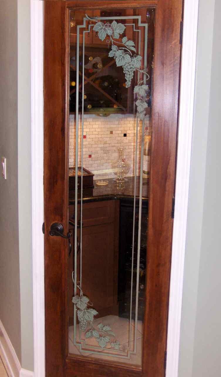 Sans Soucie Etched Glass Wine Room Door On Hgtv Sans