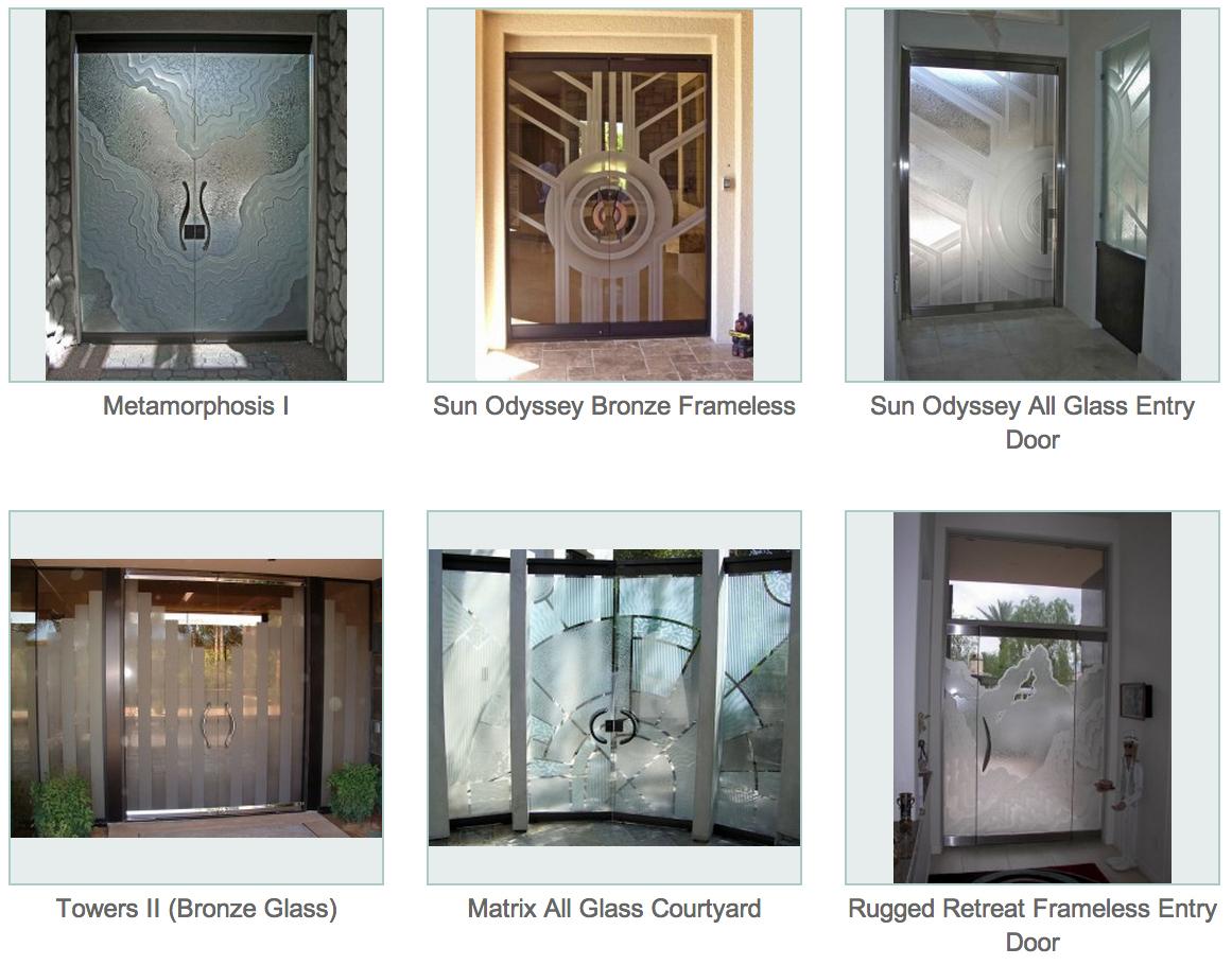 Frameless Glass Doors L Custom Glass Etching L Sans Soucie