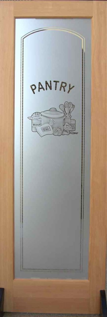 Glass Pantry Doors Featuring Dimensional 3d Designs Sans