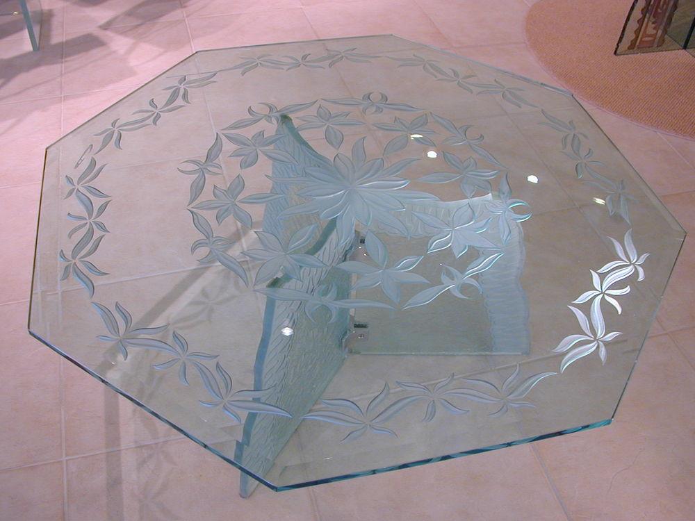 Etched Glass Tables Sans Soucie Art Glass