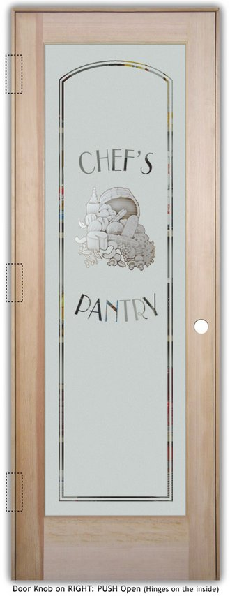 Pantry Doors With Different Levels Of Etching Sans