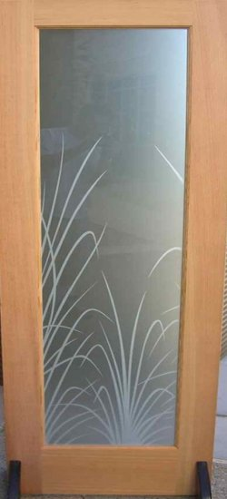 Etched Pantry Door - Sans Soucie Art Glass
