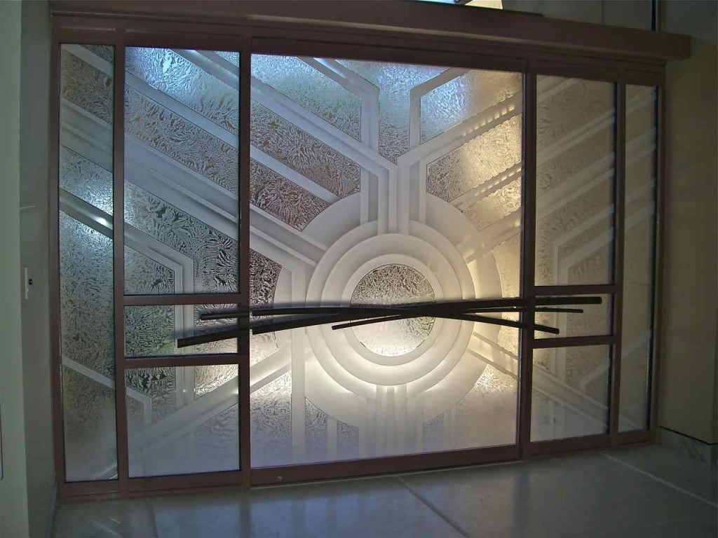 Contemporary glass sans soucie art glass for Etched glass entry doors