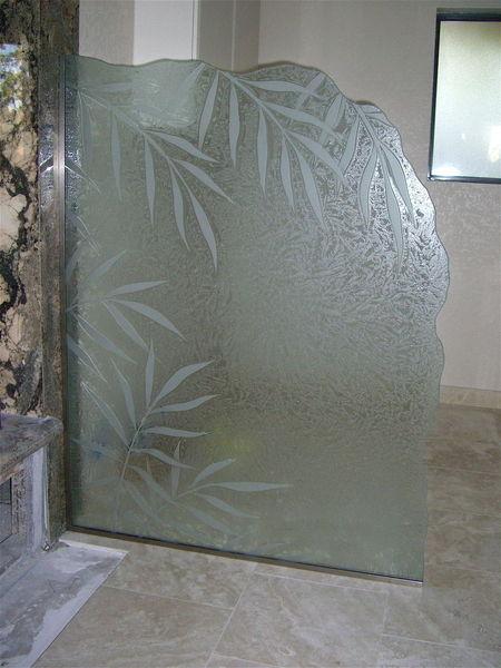 Shower Divider Sans Soucie Art Glass