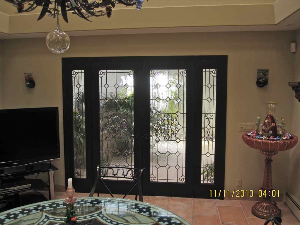 768 #796348 Visit Our Leaded Beveled Glass Gallery To See More Glass Like This  image Stained Glass Entry Doors 41831024
