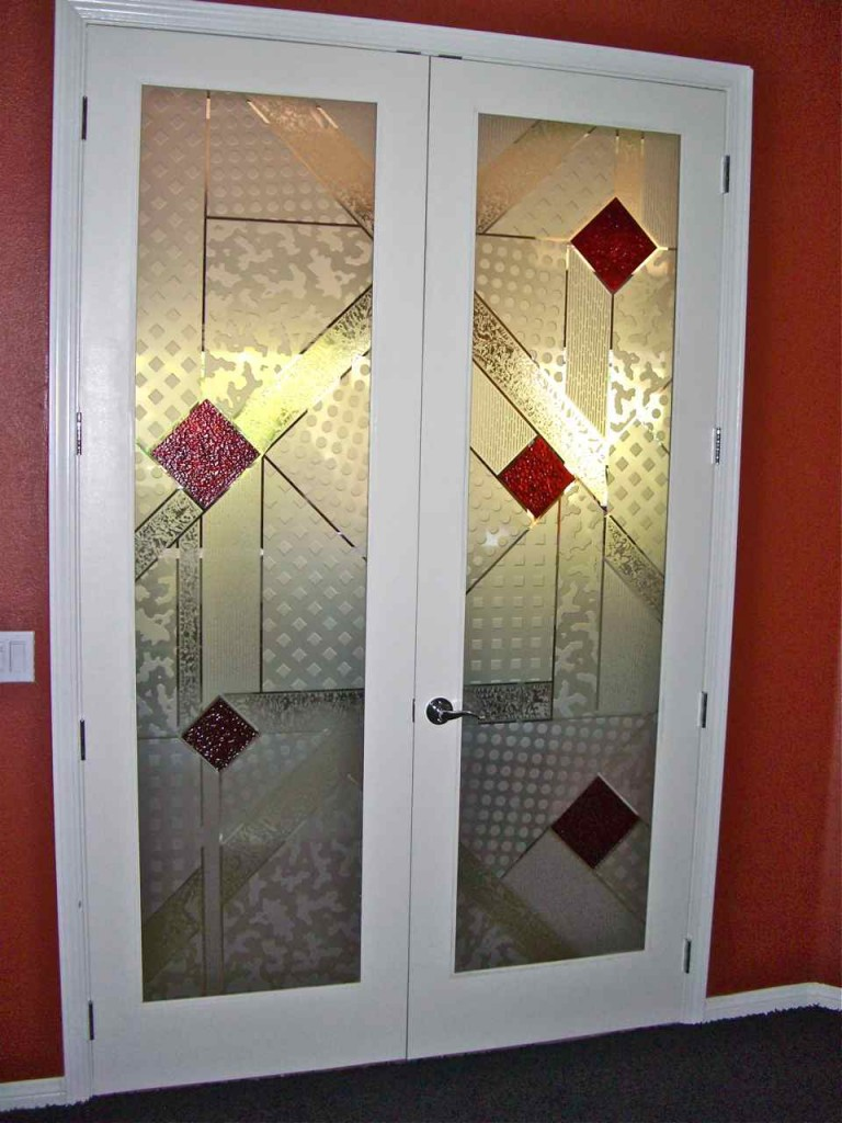 Frosted glass door sans soucie art glass part 3 for Etched glass entry doors