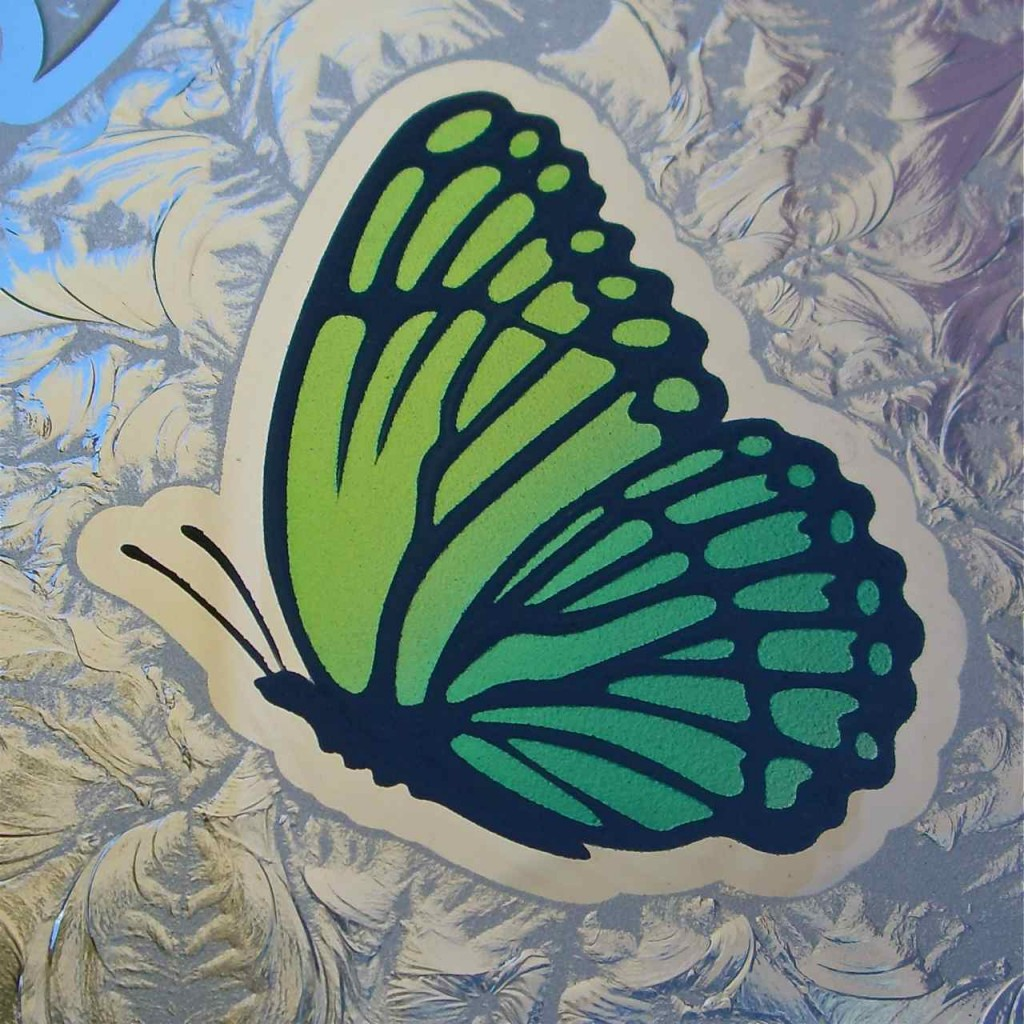 Butterflies Etched, Carved & Painted in Glass Windows - Sans ...